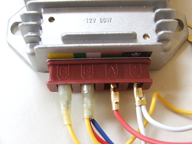 12v loom a 12v battery can be used if you have a 4 pin regulator